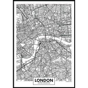 Nástěnný plakát v rámu MAP/LONDON, 40x50cm