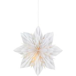 Bílá vánoční závěsná světelná dekorace Markslöjd Neela,výška45 cm