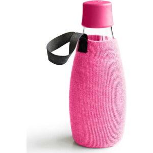 Růžový obal na skleněnou lahev ReTap s doživotní zárukou, 500ml