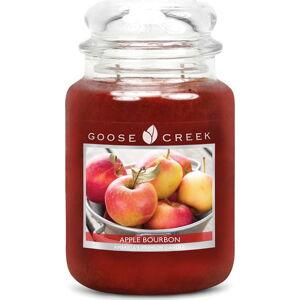 Vonná svíčka ve skleněné dóze Goose Creek Jablečný bourbon, 150 hodin hoření