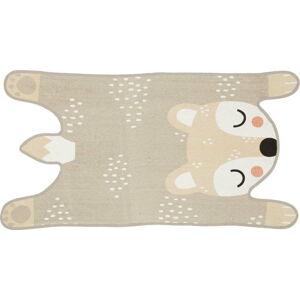Béžový dětský koberec z bavlny Södahl Bear