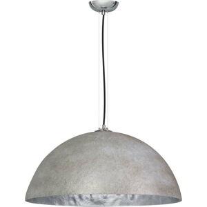 Šedo-stříbrné stropní svítidlo ETH Mezzo Tondo, ⌀70cm