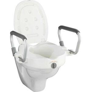 Zvýšené WC sedátko s opěrkami pro seniory Wenko Secura, 47,5 x 55 cm