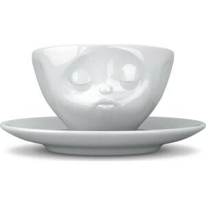 Bílý líbající porcelánový hrnek na kávu 58products, objem 200 ml
