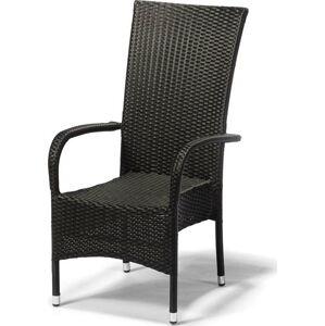 Zahradní židle Timpana Frenchie v antracitově šedé barvě, výška 107 cm