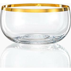 Sada 6 skleněných mís Crystalex Golden Celebration, ø 21,95 cm