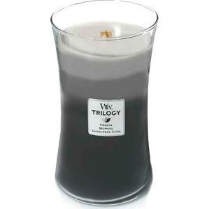 Vonná svíčka WoodWick Hřejivé dřevo, 110hodin hoření