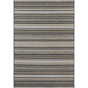 Černo-hnědý koberec vhodný i na ven Elle Decor Bloom Rodez, 160 x 230 cm