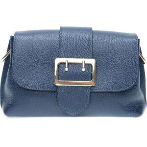 Modrá kožená taška přes rameno se 3 kapsami Isabella Rhea