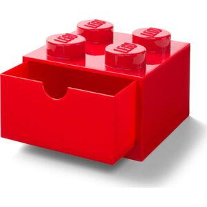 Červený stolní box se zásuvkou LEGO®, 15x16cm