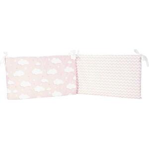 Růžový ochranný bavlněný mantinel do dětské postýlky Apolena Carino, 40 x 210 cm