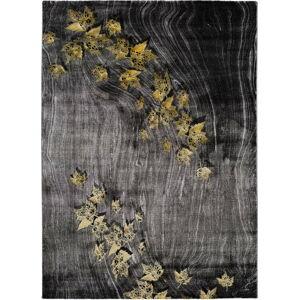 Tmavě šedý koberec Universal Poet Leaf, 140 x 200 cm
