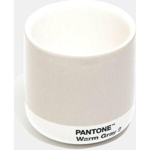 Světle šedý keramický termo hrnek Pantone Cortado, 175ml