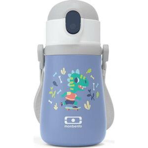 Fialová dětská termoska Monbento Stram Dino,360ml