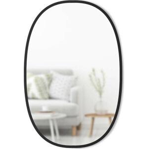 Oválné nástěnné zrcadlo v černém rámu Umbra Hub