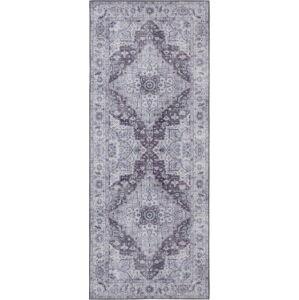 Šedý koberec Nouristan Sylla, 80 x 200 cm