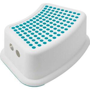 Bílá stolička s modrými detaily Addis Booster Step