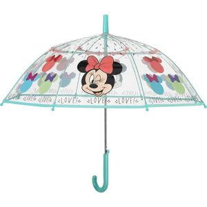 Transparentní dětský deštník odolný vůči větru Ambiance Disney Minnie, ⌀74cm