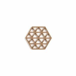Pískově hnědá silikonová podložka pod hrnec Zone Triangles