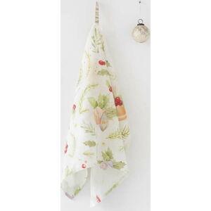 Vánoční lněná utěrka Linen Tales Merry,65x45cm