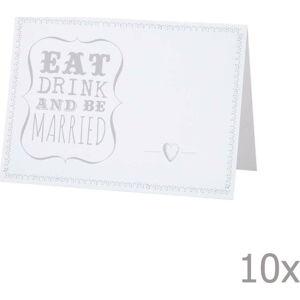 Svatební jmenovky Be Married, 10 ks