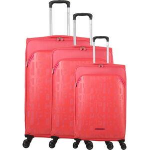 Sada 3 růžových zavazadel na 4 kolečkách Lulucastagnette Bellatrice