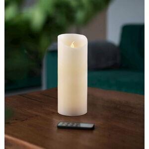 LED svíčka s dálkovým ovládáním DecoKing Wax, výška 20 cm