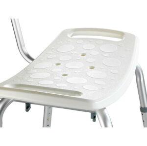 Sedací stolička s opěradlem do sprchy Wenko Stool With Back, 54 x 49 cm