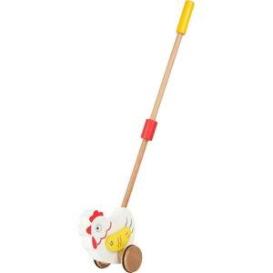 Dřevěná hračka na tyči Legler Animal Hen