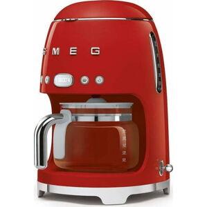 Červený kávovar na filtrovanou kávu SMEG 50's Retro