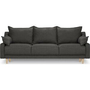 Tmavě šedá rozkládací pohovka s úložním prostorem Mazzini Sofas Freesia