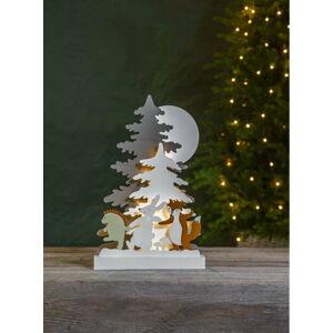 Vánoční dřevěná světelná LED dekorace Star Trading Forest Friends