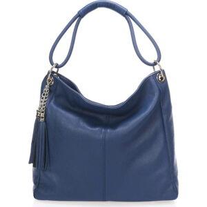 Kožená kabelka Markese 5008, modrá