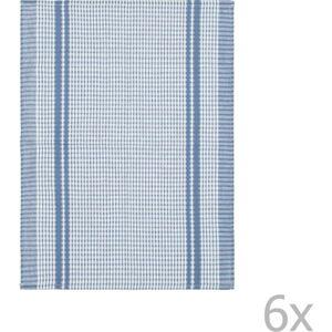 Sada 6 světle modrých bavlněných utěrek Tiseco Home Studio Waffle, 50 x 70 cm