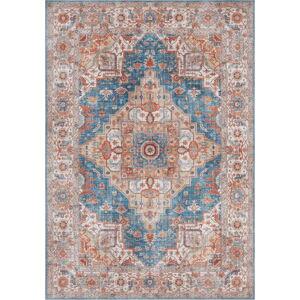 Modro-červený koberec Nouristan Sylla, 80 x 150 cm