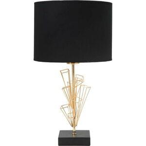 Stolní lampa v černo-zlaté barvě Mauro Ferretti Glam Olig, výška45cm