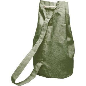 Jednoduchý látkový vak Linen Couture Green Moss, 43 x 43 cm