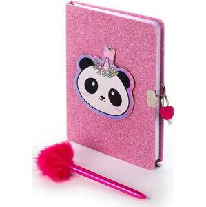 Růžový zápisník se zámkem, zrcadlem a propiskou Tri-Coastal Design