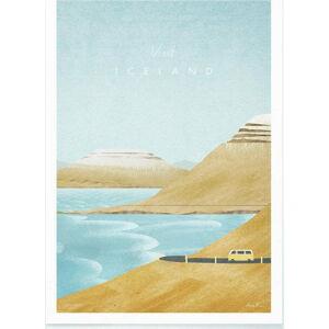 Plakát Travelposter Iceland, A3