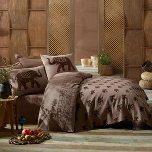 Bavlněný přehoz přes postel na dvoulůžko s povlaky na polštáře a prostěradlem Fil,200x235cm