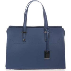 Modrá kožená kabelka Giorgio Costa Prato