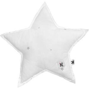 Šedý dětský bavlněný polštář ve tvaru hvězdy BELLAMY Shining Star