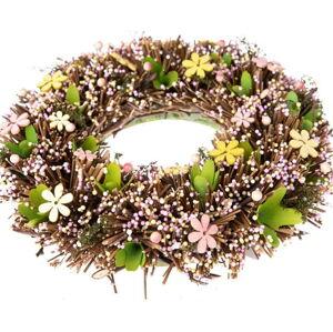 Závěsný věnec s umělými květinami Dakls Misma, ⌀ 32 cm