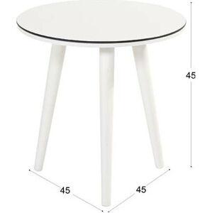 Bílý zahradní odkládací stolek Hartman Sophie