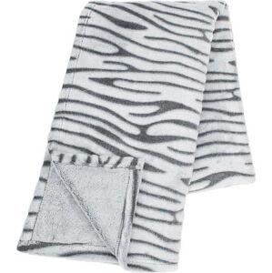 Světle šedá mikroplyšová deka Tiseco Home Studio Stripes,130x180cm