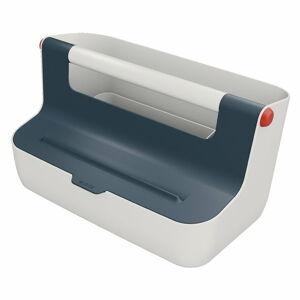 Šedý přenosný box s organizérem Leitz Cosy