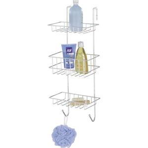 Nástěnná závěsná koupelnová třípatrová polička Wenko Revigo