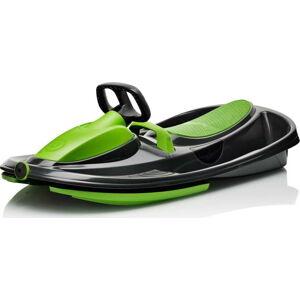 Černo-zelený zimní bob s volantem Gizmo Mystic green