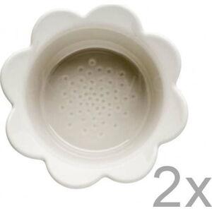 Sada 2 béžových porcelánových misek Sagaform Piccadilly Flowers, 13x6,5cm