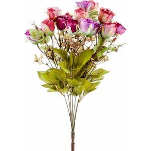 Pugét umělých růžových růží The Mia